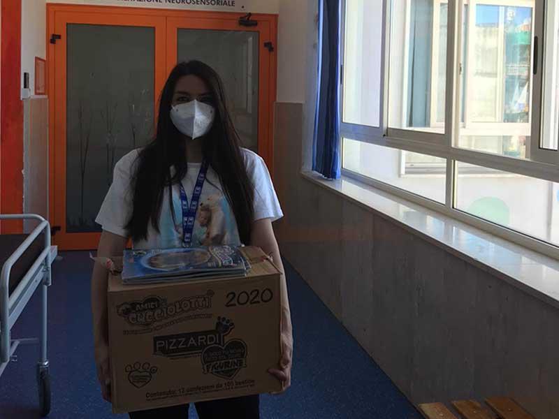 ABIO Napoli torna al Policlinico Federico II donando Lego, figurine e album ai piccoli pazienti