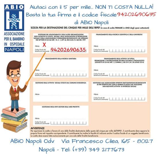 Dona il 5 per mille ad ABIO Napoli